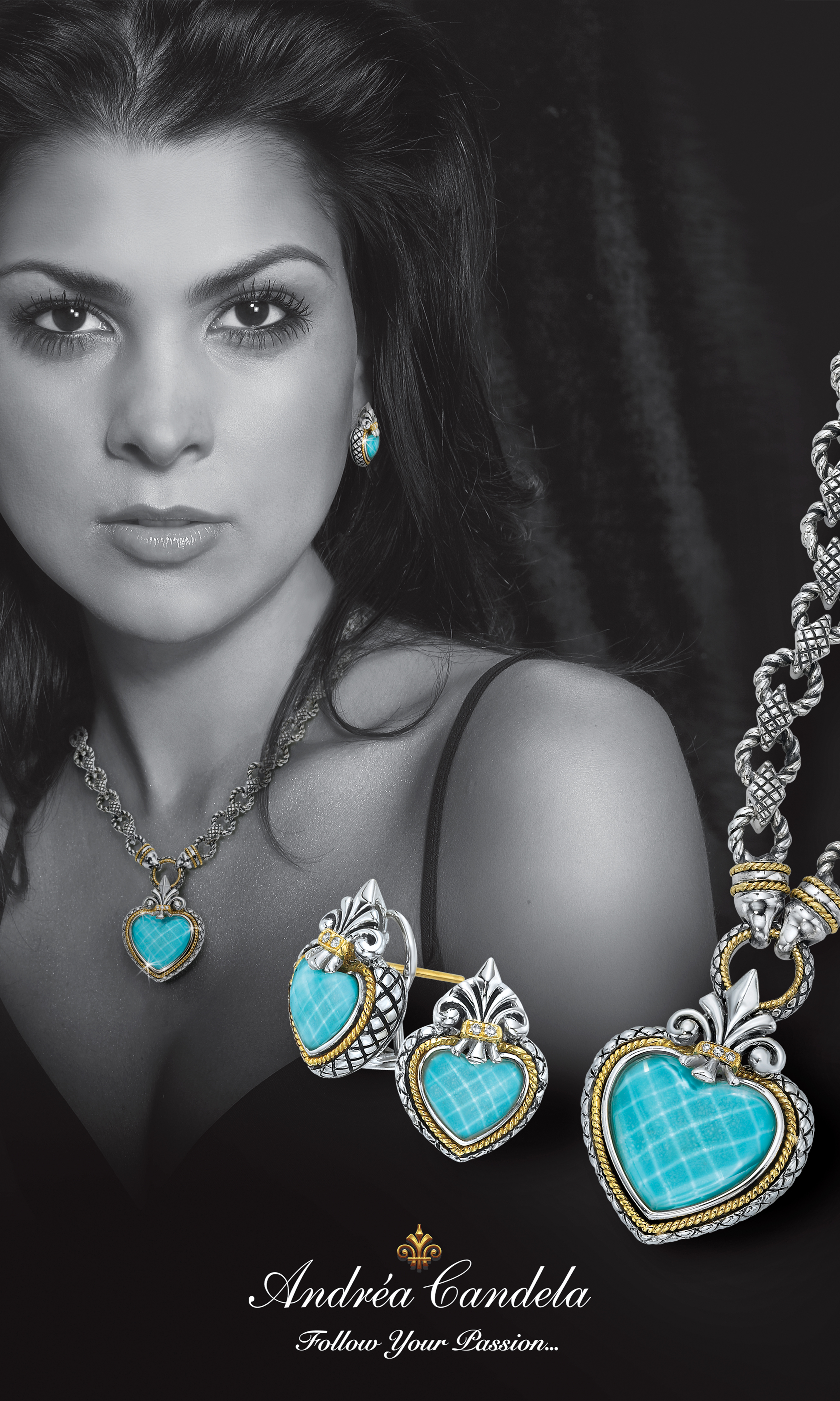 Andrea Candela - TurquoiseDuratran36x60.jpg - brand name designer jewelry in Dunkirk, Maryland
