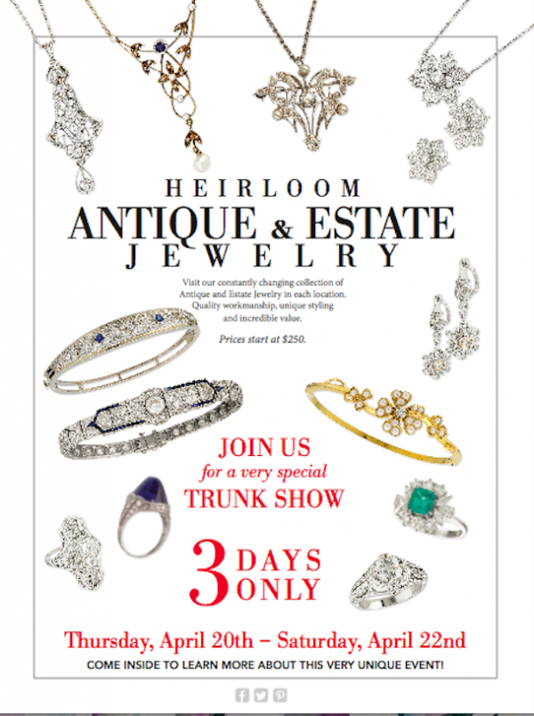 bb694394186 Antique and Estate Jewelry Event Brings Gorgeous Pieces